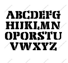air army uppercase lowercase letter stencils a z 1 4 to 12