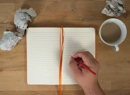 blank paper to write hand writing to open blank notebook mockup free stock images by hand writing to open blank notebook mockup