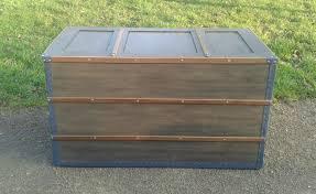 fabrication de coffre en bois o u0027 bois recyclé grande malle xxl originale