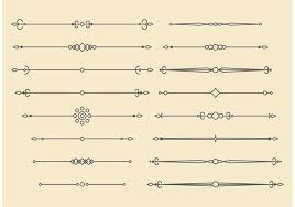 retro vector ornament lines design free vector