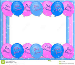 baby shower invitation border royalty free stock images image