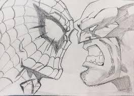 spiderman wolverine drawing shubham gupta