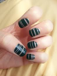 nail art maxresdefault triplet studs with black and white stripes