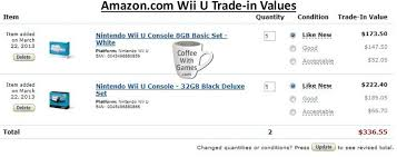 wii u black friday deals amazon coffee with games current wii u trade in values amazon com
