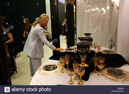 home decor exhibition princess michael of kent in moscow she visited home decor stock