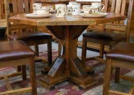 Barn Wood Octagon Dining Table Southern Creek Rustic Furnishings - Octagon kitchen table