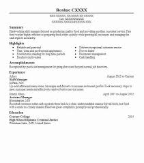 Assistant Food And Beverage Manager Resume Best Shift Manager Resume Example Livecareer