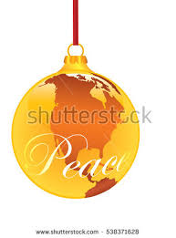 peace on earth ornament shaped stock vector 538371628