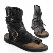summer motorcycle boots mabaiwan fashion summer punk style men sandals gladiator motorcycle