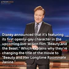 Gay Roommate Meme - joke disney announced that it s featuring its first o conan o