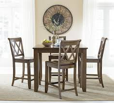 standard furniture vintage counter height dining set with four