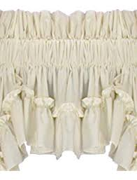 Country Ruffled Valances Amazon Com Stephanie Country Ruffle Priscilla Curtains Pair 86