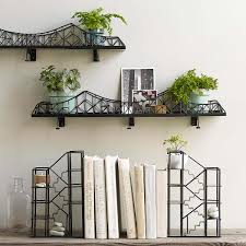 suspension bridge shelf metal shelving uncommongoods