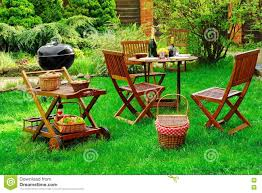 Backyard Bbq Grill by Summer Outdoor Backyard Bbq Grill Party Picnic Scene Stock Photos