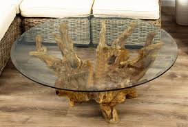reclaimed teak root coffee table sustainable furniture