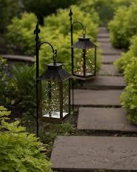 led lantern pathway lights balsam hill