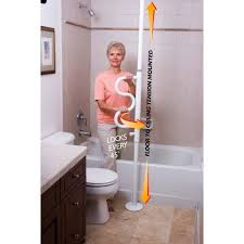 Bathroom Safety For Elderly by Stander Security Pole And Curve Grab Bar Tension Mounted Pole