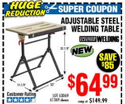harbor freight welding table adjustable steel welding table harbor freight coupons pinterest