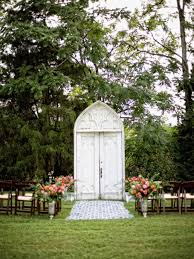 wedding backdrop doors wedding altar and aisle decor diy