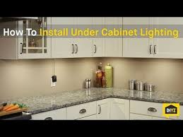 How To Install Under Cabinet Lights How To Install Led Under Cabinet Lighting Youtube