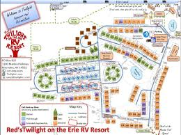 Canandaigua New York Map by Red U0027s Twilight On The Erie Rv Resort Home