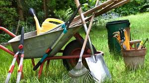 common garden tools required for general gardening shovels