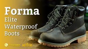 waterproof motorcycle boots forma elite waterproof motorcycle boots overview youtube