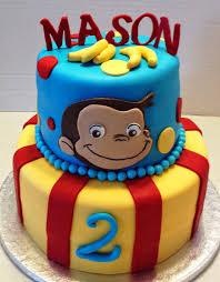 birthday stuff marymel cakes a curious george 2nd birthday pinteres