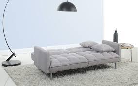 Light Grey Tufted Sofa by Jack Modern Tufted Linen Futon Sofamania Com