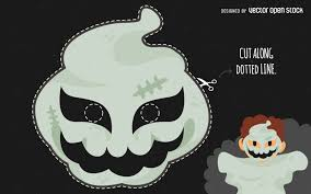 halloween ghost mask vector download