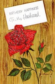 Card For Invitation Or Congratulation With Red Rose In Vintage Birthday Card To Husband Red Rose W Mica Glitter On Barn Wood