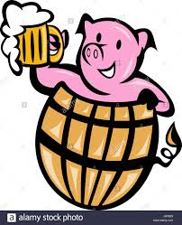 beer cartoon foam illustration beer barrel possession holding cartoon
