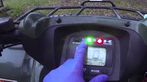kawasaki brute force 650 750 belt light reset how to tutorial