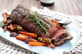 cuisiner roti de boeuf rôti de bœuf aux carottes et herbes de provence vacqueyras 2015 de