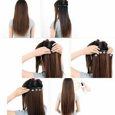 clip in hair women clip in hair extensions curly with 5 at
