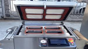 vacuum sealing machine tray boxes fast food containers sealer
