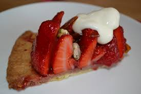 strawberry and pistachio tart one hand in the cookie jar