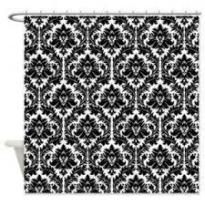 Black And White Damask Curtain Grey Damask Shower Curtain Shower Curtain Rod