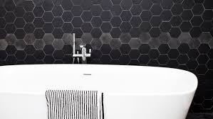 hexagon tile bathroom wall best bathroom decoration