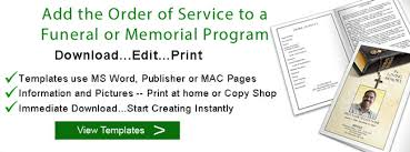 Funeral Ceremony Program Funeral Order Of Service Program Funeral And Memorial Order Of