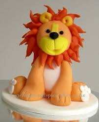 lion cake topper leopold lion cake topper in fondant cake by