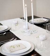 simple table decorations black and white thanksgiving decor ideas