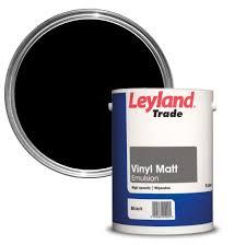 leyland trade black smooth matt emulsion paint 5l departments