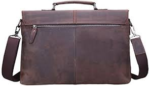 Cowhide Briefcase Iswee Vintage Crazy Horse Cowhide Leather Tote Briefcase Messenger Bag