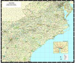 North Carolina State Map by Georgia South Carolina North Carolina Virginia Map