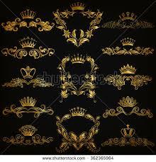 gold monogram set gold monogram graphic design on stock vector 362365964