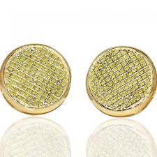 earrings for men yellow diamond stud earrings for men 10k gold on backs 0 4
