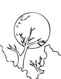 coloring pages of the moon virtren com