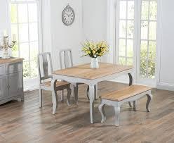 Shabby Chic Dining Table Sets Parisian 130cm Grey Shabby Chic Dining Table With Chairs And