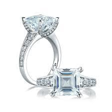 diamond studded a jaffe asscher cut with diamond studded center seasons of